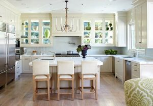 White Kitchen Accessorized with Light