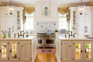 White Kitchen with Patterns