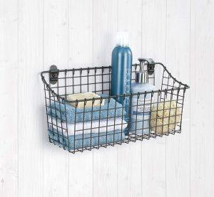 Bathroom storage ideas wall hanging basket