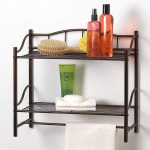 Bathroom storage idea wall rack