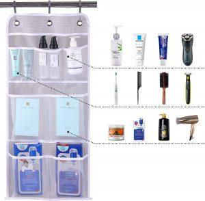Bathroom pocket hanging organizer