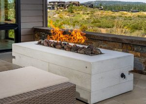 many cement fire pits