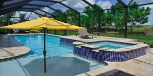 decorate poolside with a shadow