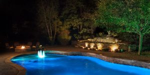 decorate poolside with lantern