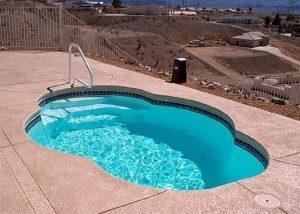 small fibreglass pool